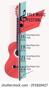 Beautiful modern classical music festival poster or flyer template. Ideal for local events announcement and promotions