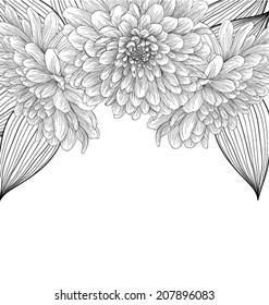 Royalty Free Black White Flower Corner Images Stock Photos