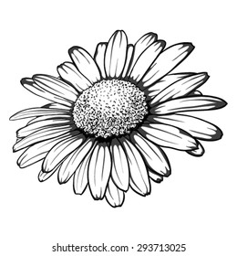 Daisy Tattoo Stock Illustrations Images Vectors