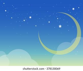 Beautiful moon night