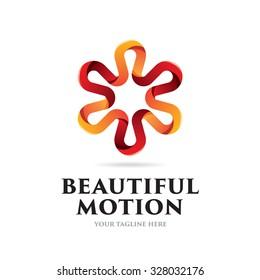 Beautiful Motion Icon Logo