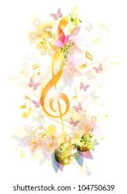 Beautiful music Element. Vectors design