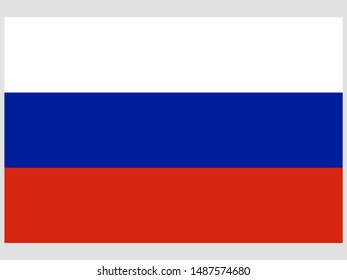 Beautiful national flag of Russian Federation. original colors and proportion. Simply vector illustration eps10, from countries flag set.