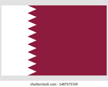 Beautiful national flag of State of Qatar . original colors and proportion. Simply vector illustration eps10, from countries flag set.