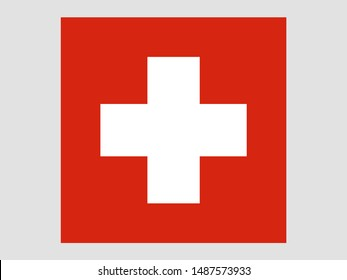 Beautiful national flag of Swiss Confederation, know as Switzerland. original colors and proportion. Simply vector illustration eps10, from countries flag set.