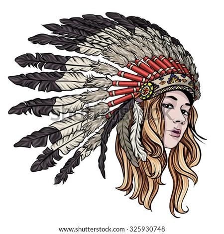 You have Beautiful native american women headdress right!