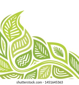 Beautiful nature background of leaves. Vector illustration