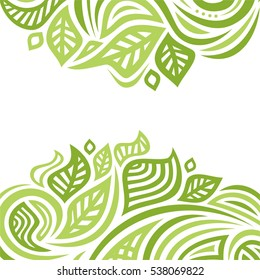 Beautiful nature background of leaves. Vector illustration.