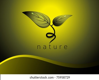 beautiful nature concept background, vector illustration