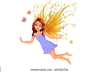 Beautiful nature fairy flying
