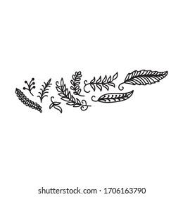 Beautiful nature pattern. Vector illustration