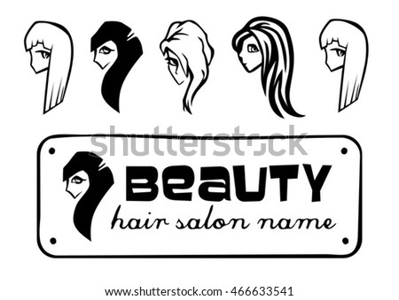 Beautiful Nice Girls Different Hair Styles Stock Vector Royalty