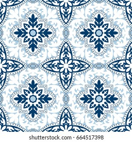 Beautiful ornamental tile background. Vector illustration
