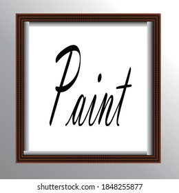 Beautiful painting and photo frames are very suitable to be used as photo frames or paintings and wall hangings
