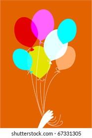 Beautiful Party Balloons Vector