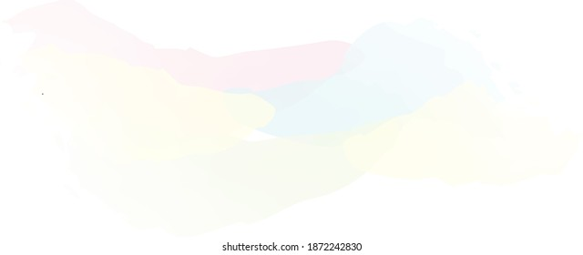 Beautiful pastel background with vector watercolor pattern, texture brush strokes in gentle colors. Multicolored template for splash or greeting card, artist's gradient soft shaded brush stoke.