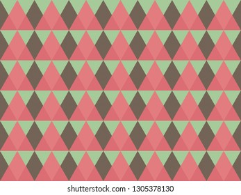 Beautiful pastel colorful polygon or diamond shape square in minimal and modern trendy geometric concept.