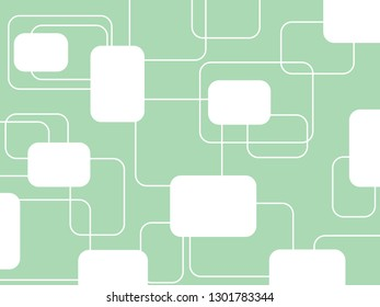 Beautiful pastel green mint background or light blue with rounded rectangle or square in modern trendy geometric concept.Vintage retro style wallpaper vector pattern graphic design for textile printed