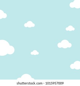 beautiful pastel sky with clouds background vector. concept of cartoon,freedom,happy or for website template