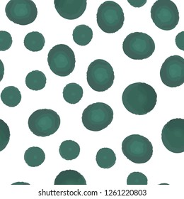 Beautiful Pattern With Green Polka Dots. Seamless Vector. Elements are not cropped. Pattern under the mask. Perfect design for textile, box, posters, cards, web etc.