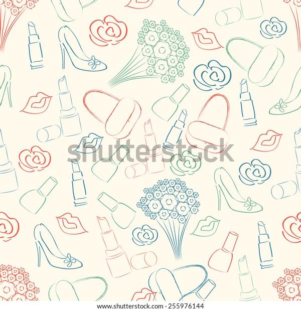 Beautiful pattern for International Women's Day celebration.