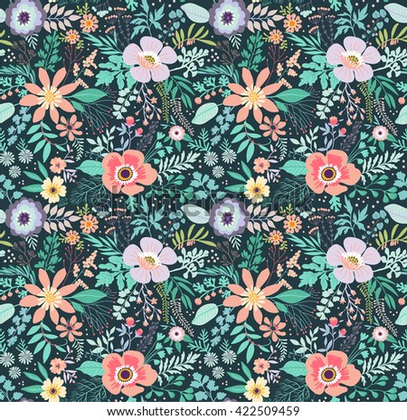 Fashion design colorful abstract flower pretty picturesboss beautiful pattern in small abstract flower small colorful flowers black background small cute jpg 450x463 fashion mightylinksfo