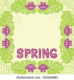 Beautiful pattern spring background vector illustration