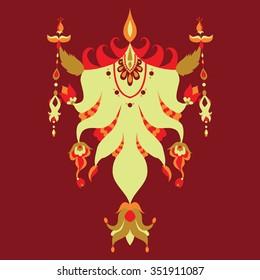 beautiful pattern unusual in Kazakh style