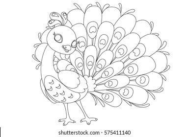 Peacock Color Drawing Images, Stock Photos & Vectors | Shutterstock