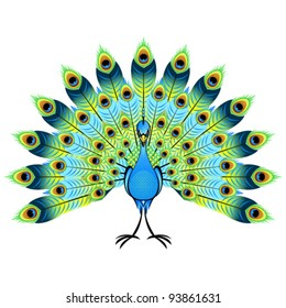 Peacock Cartoon Images Stock Photos Vectors Shutterstock