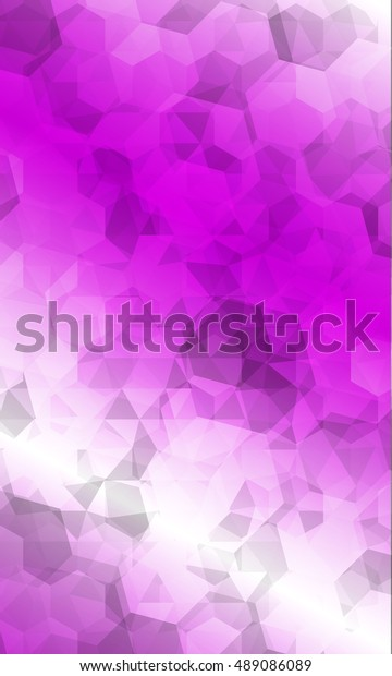 Beautiful Pink Color Geometry Background Vector Stock Vector