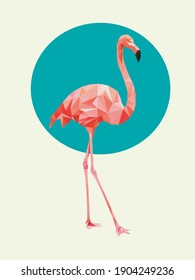 beautiful pink flamingo blue yellow