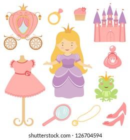Beautiful princess collection. Vector format