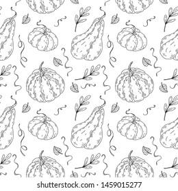 Beautiful pumpkin halloween thanksgiving seamless pattern
