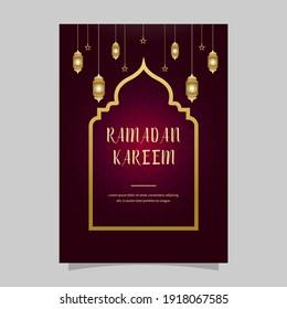 Beautiful ramadan kareem Vector background