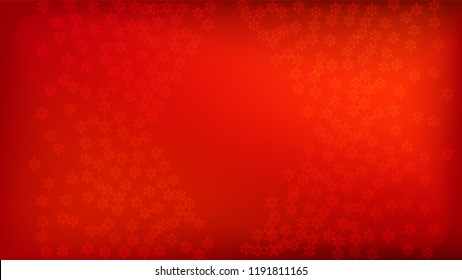 Beautiful Red Christmas Background with Falling Snowflakes. Element of Design with Snow for a Postcard, Invitation Card, Banner, Flyer. Vector Falling Snowflakes on a Red Background.