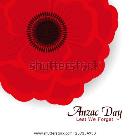 Beautiful red poppy flower anzac day stock vector royalty free beautiful red poppy flower for anzac day or remembrance armistice day mightylinksfo