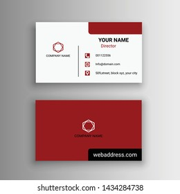 beautiful red and white business card design vector illustration simple creative modern
