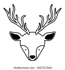beautiful reindeer head woodland character