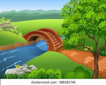 Beautiful river on nature background