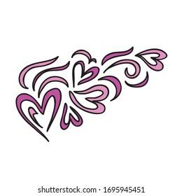 Beautiful romantic pattern of hearts. Vector illustration