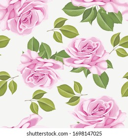 beautiful roses seamless pattern design