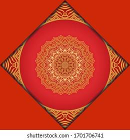 Beautiful Round Flower Mandala. Illustration. For Coloring Book, Greeting Card, Invitation