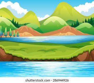 Beautiful scene of lake at daytime