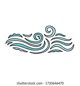 Beautiful sea decorative element. Vector illustration