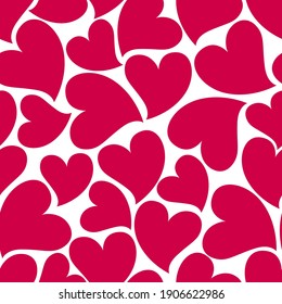 Beautiful seamless background with pink hearts. Valentine's Day. Decoration of Valentine's Day materials.