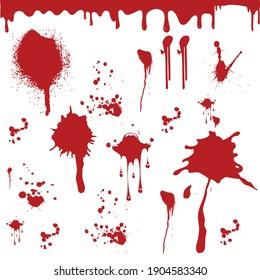 beautiful seamless blood pattern vector design