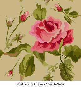 Beautiful seamless flower pattern. Fun Flowers seamless pattern.