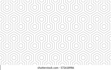 beautiful seamless geometric pattern of hexagons and circles