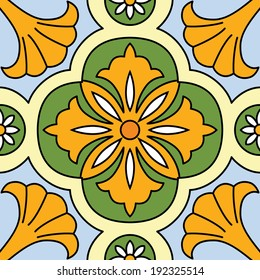 Beautiful seamless ornamental tile background vector illustration